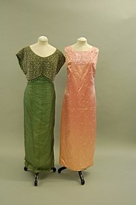 2007: A group of mainly 1960s evening wear, approx. 34