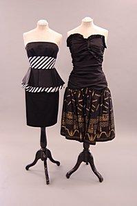 2008: A Zandra Rhodes black taffeta cocktail dress, 198