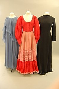 2010: Three Jean Varon full length evening gowns, early