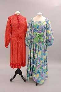 2011: A group of floral and hippy style garments, 1970s