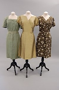 2017: A group of late 1950s cocktail dresses, five incl