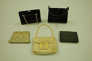 2018: Four bags, comprising: a 1930s gold brocaded even