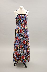 2019: Two floral full-length evening gowns, late 1930s,
