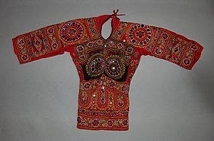 2021: Three Indian embroidered and mirror inset bodices
