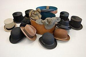 2023: A general group of gentlemen's hats, including br