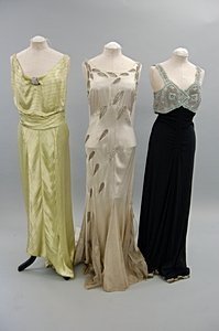 2044: A group of 1930s evening wear, summer wear and li