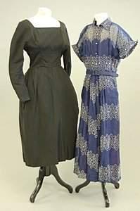 A Jean Allen black ottoman dinner gown, late 1950