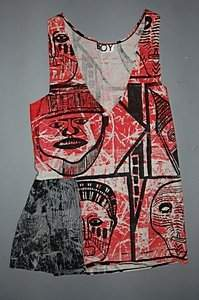 A `Boy' African printed cotton dress, 1980s, labe
