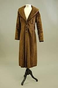A Biba chocolate brown faux fur evening coat, wov
