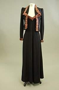 A Biba black knitted jersey evening ensemble, lat