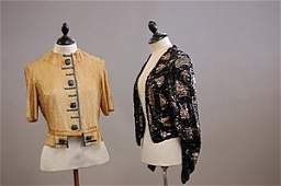 1145: A black and gold sequined evening jacket, circa 1
