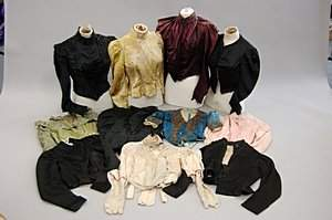 1223: A large group of bodices, mainly 1880s-1890s, app