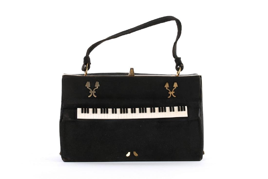 A rare Anne Marie novelty 'Piano' handbag, 1940s,