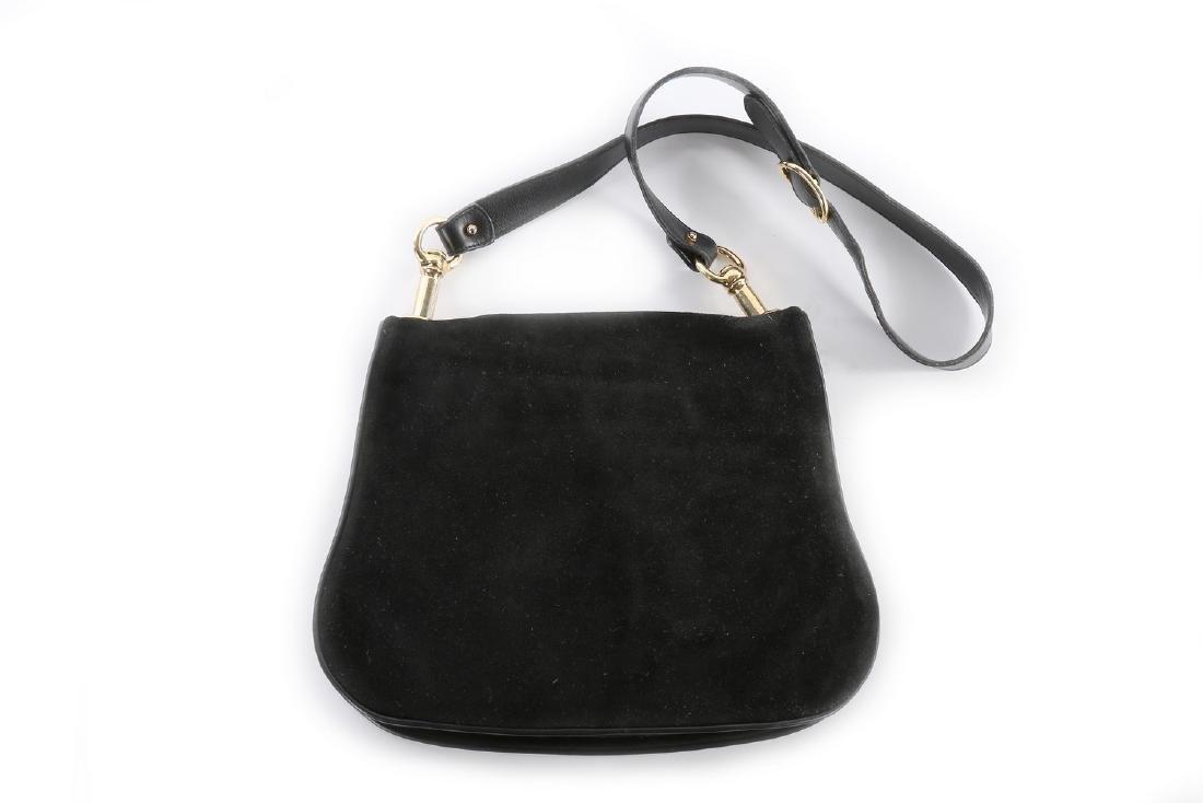 A Gucci black suede 'Blondie' shoulder bag, 1970s, - 2