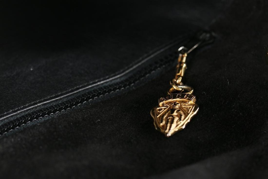 A Gucci black suede 'Blondie' shoulder bag, 1970s, - 7