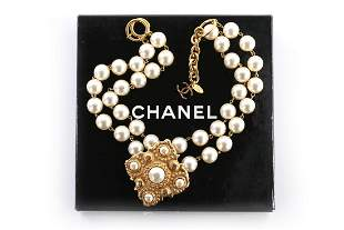 A Chanel pearl beaded choker necklace, 1983, signed and