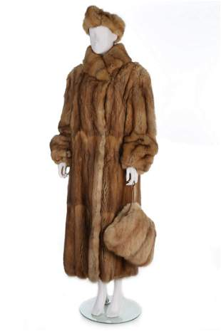 A Rolf Shulte golden Russian sable coat, 1990s,