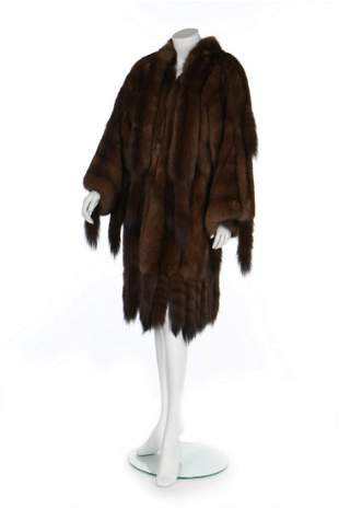 A Dior sable coat, late 1970s-early 80s, Paris