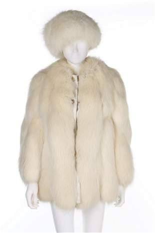 A Furs Renée arctic fox jacket, mid 1960s, labelled,