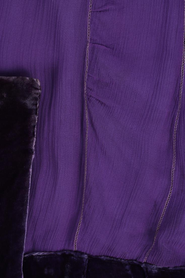 A Callot Soeurs couture purple velvet evening cape, - 7