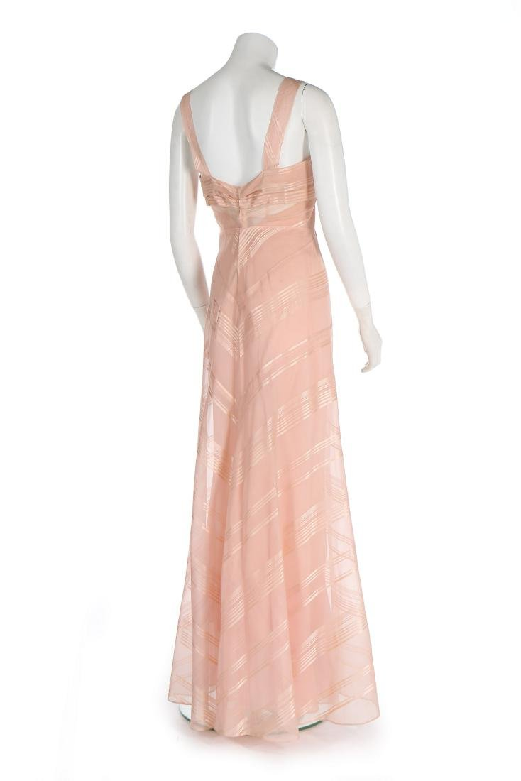 A Lucien Lelong couture self-striped pink organza - 3