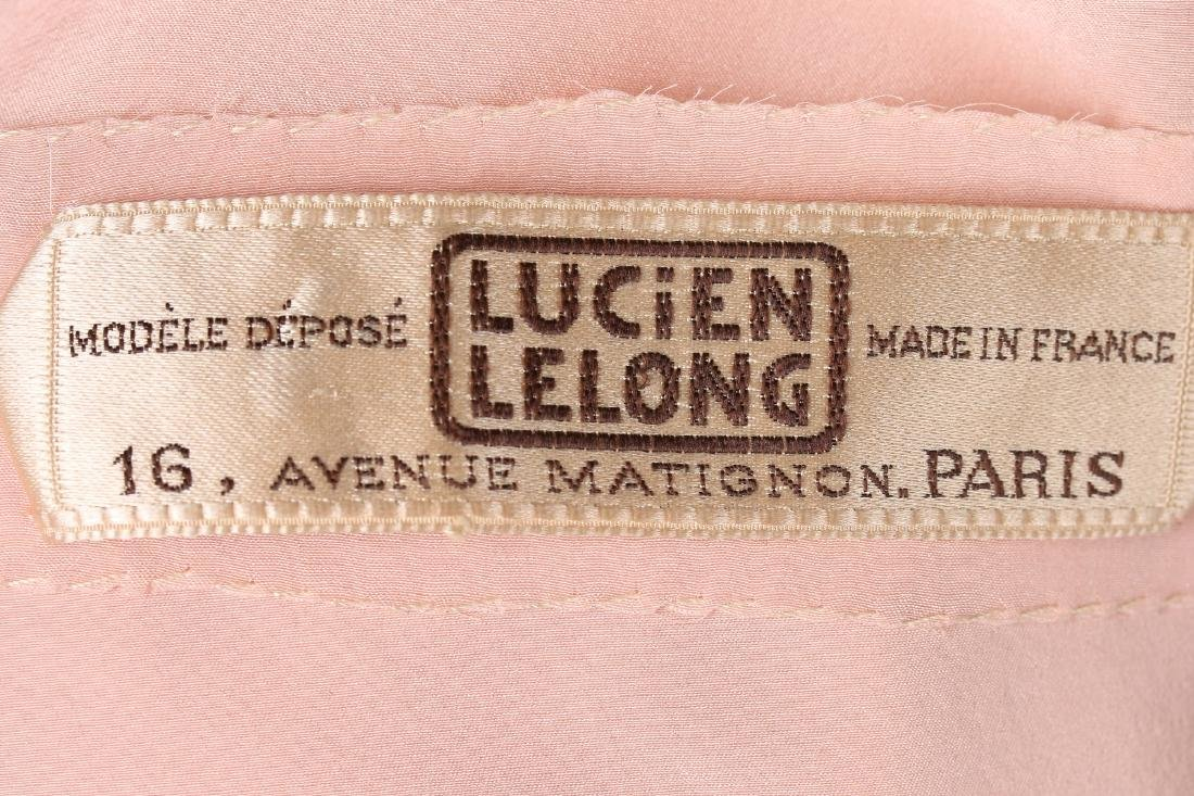 A Lucien Lelong couture self-striped pink organza - 6