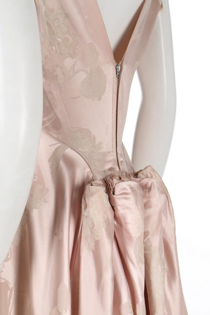 A Schiaparelli pink damask satin evening gown, early - 3