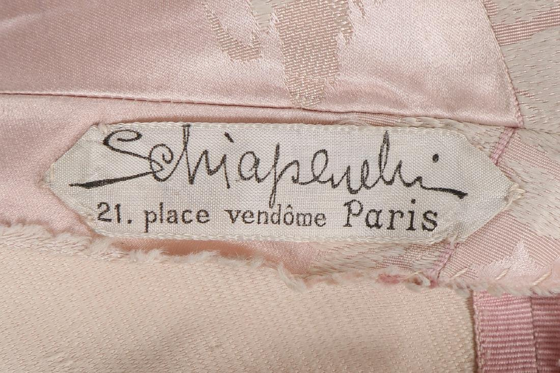 A Schiaparelli pink damask satin evening gown, early - 7
