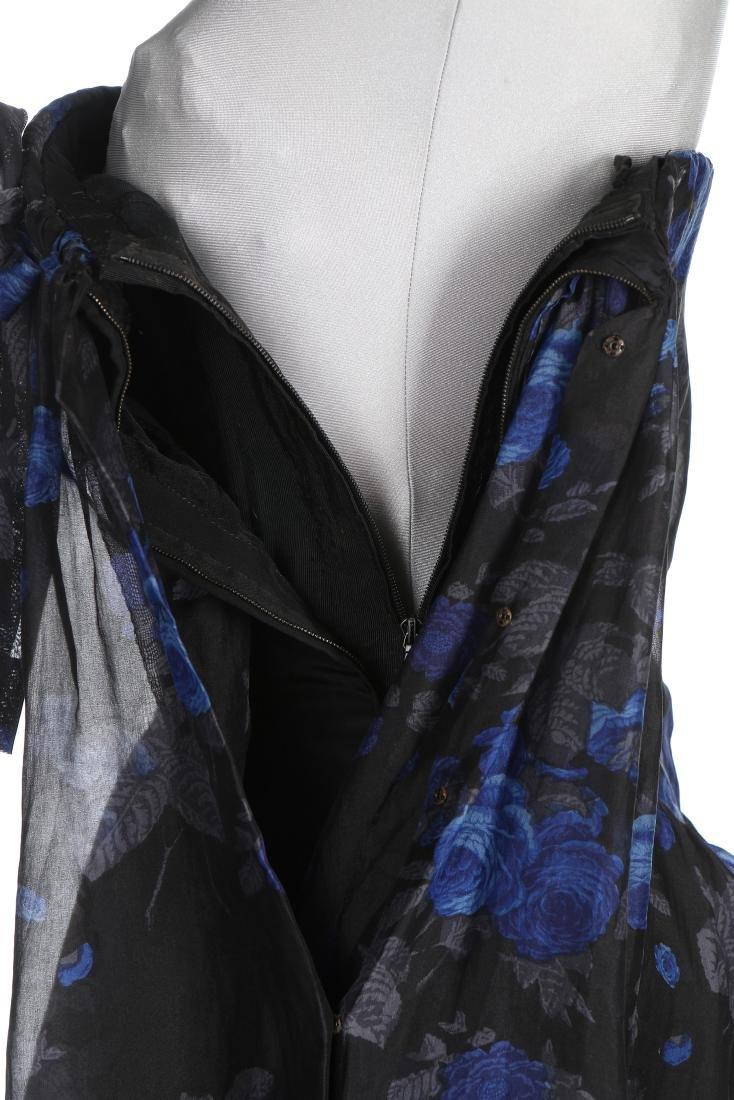 A Balenciaga couture printed black organza cocktail - 6