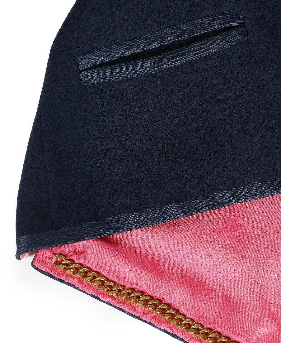 A Chanel couture navy moss crêpe suit, Autumn-Winter, - 3