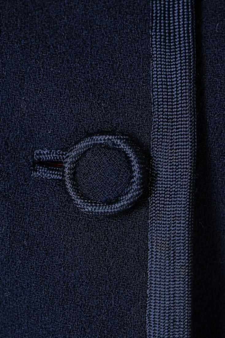 A Chanel couture navy moss crêpe suit, Autumn-Winter, - 5
