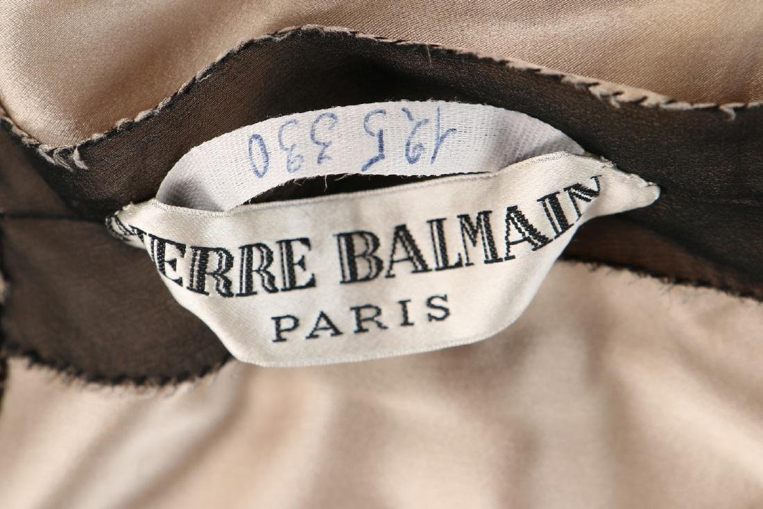 A Pierre Balmain couture black chiffon cocktail dress, - 8