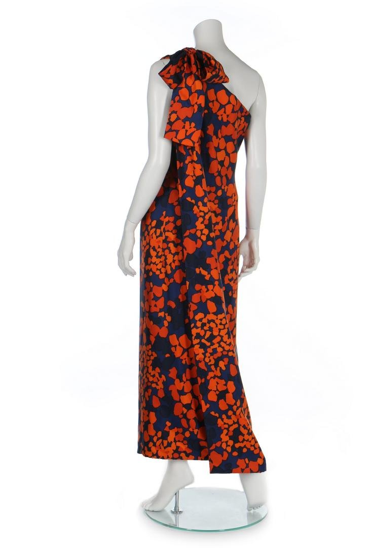An Yves Saint Laurent couture printed silk foulard