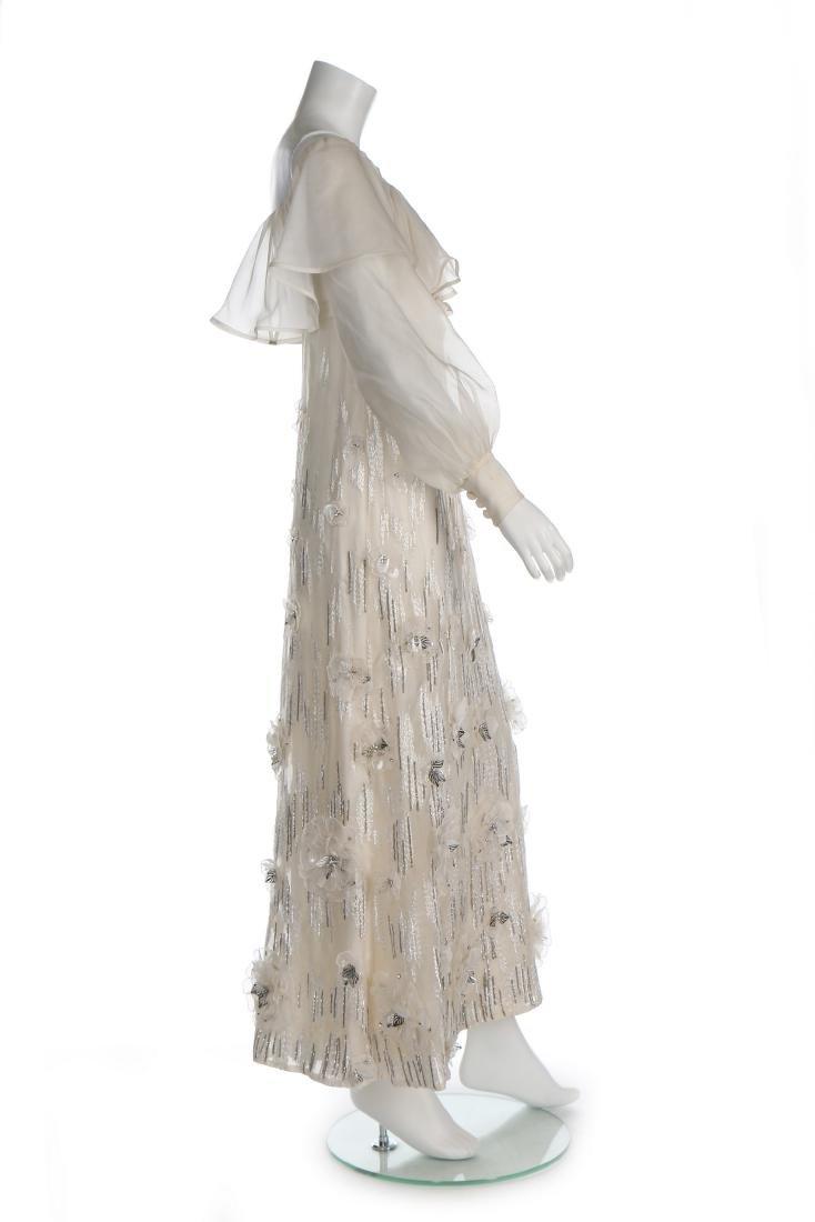 A Jean Patou couture white organza evening dress, circa - 2