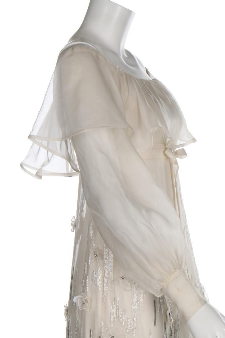 A Jean Patou couture white organza evening dress, circa - 5