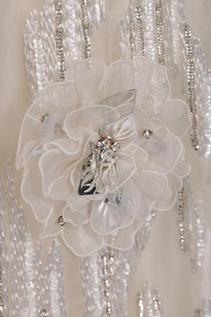 A Jean Patou couture white organza evening dress, circa - 6
