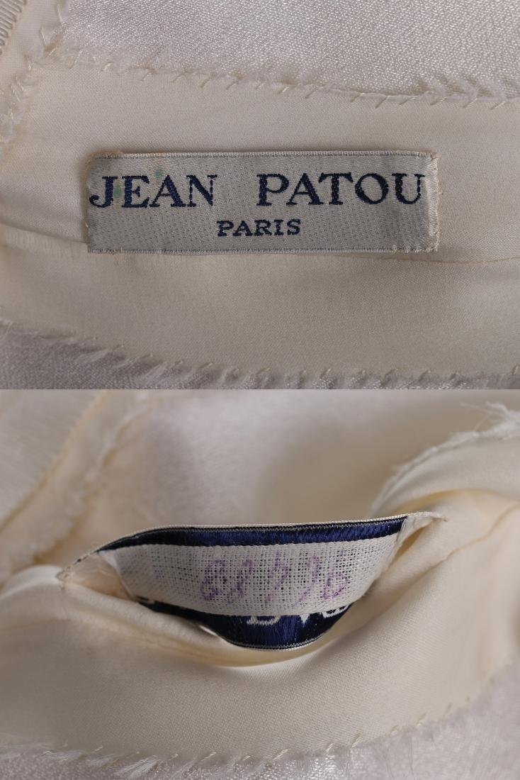A Jean Patou couture white organza evening dress, circa - 8