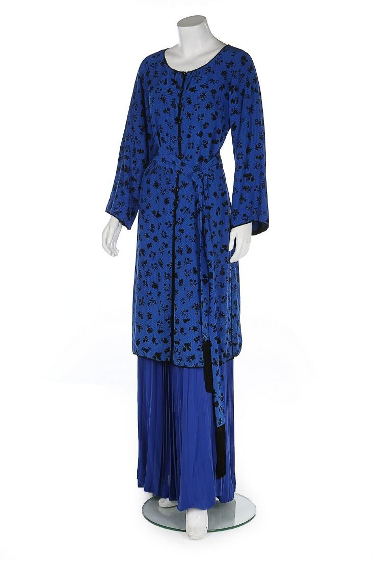 An Yves Saint Laurent couture Chinoiserie silk tunic,