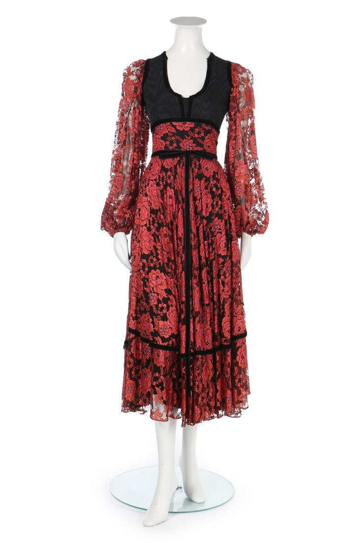A Thea Porter 'gypsy' dress, circa 1970, couture