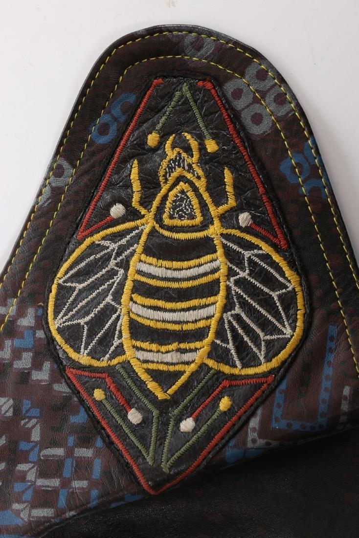 A rare Bill Gibb printed leather waistcoat, circa 1972, - 5