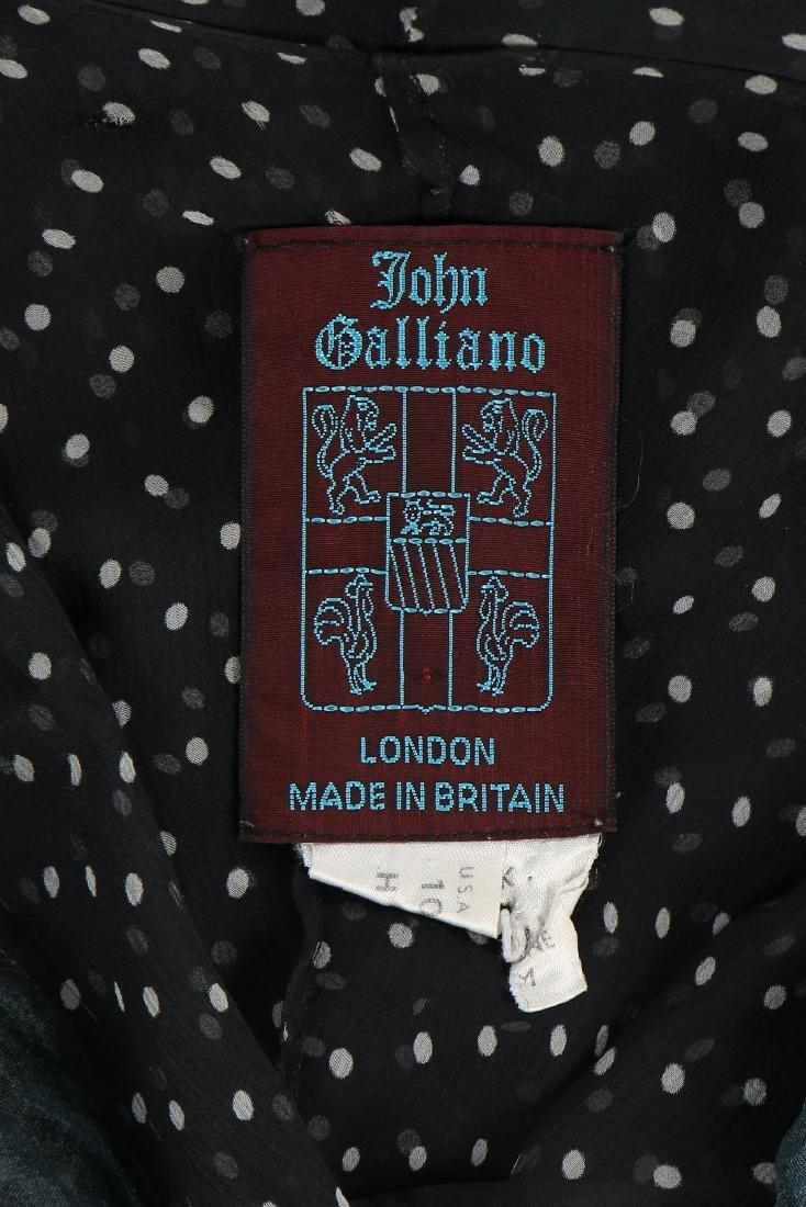 A John Galliano 'Circle Cut' polka dot chiffon blouse, - 6