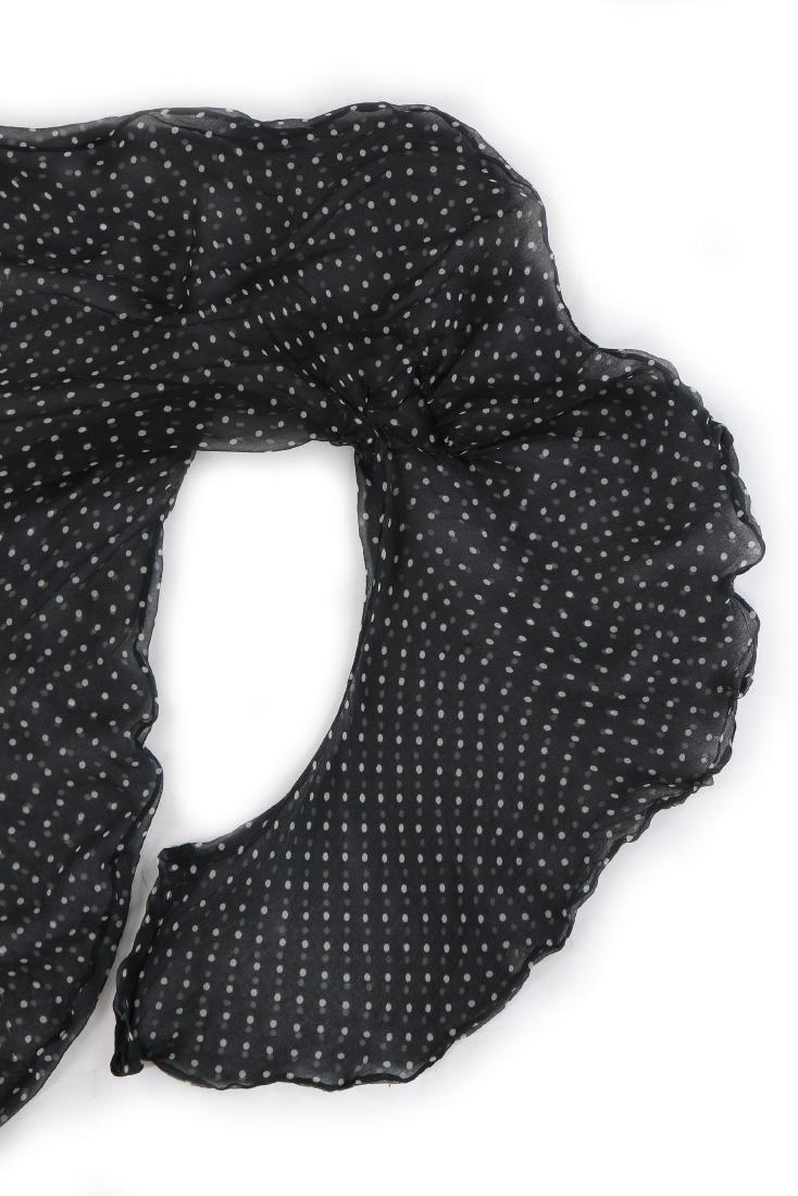 A John Galliano 'Circle Cut' polka dot chiffon blouse, - 8