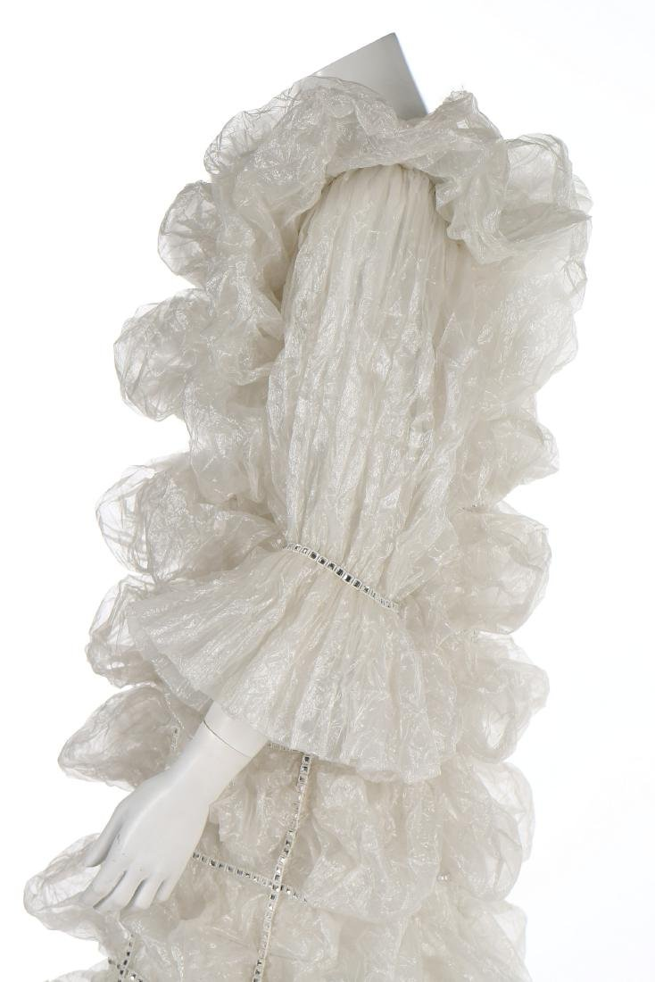 An unusual Paco Rabanne bubbled polyester gauze wedding - 4