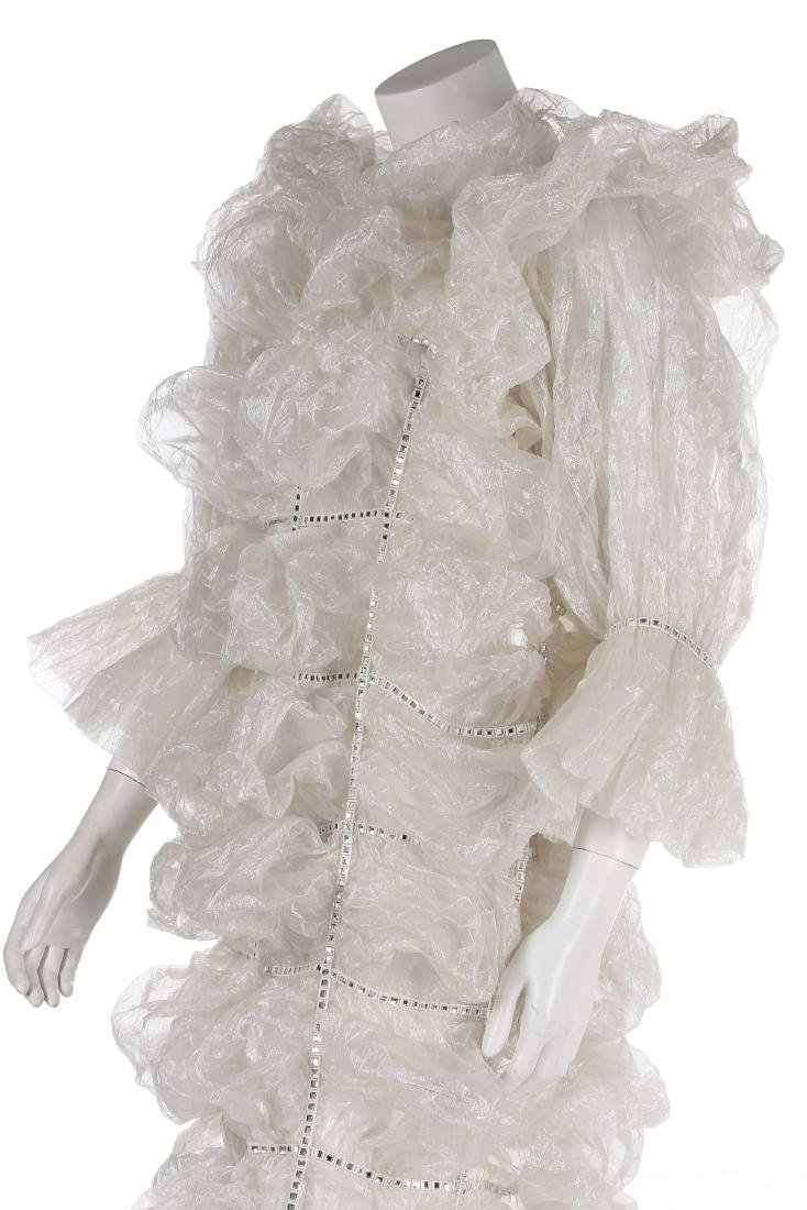 An unusual Paco Rabanne bubbled polyester gauze wedding - 5