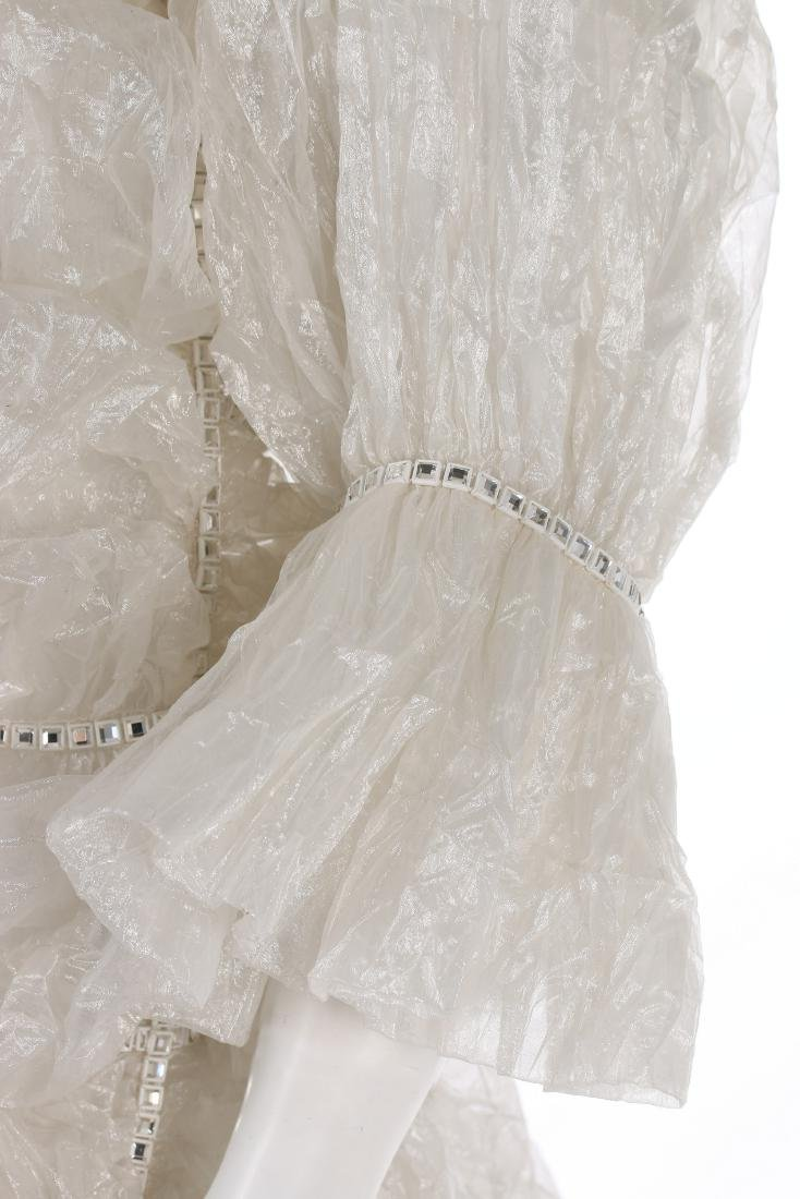An unusual Paco Rabanne bubbled polyester gauze wedding - 7