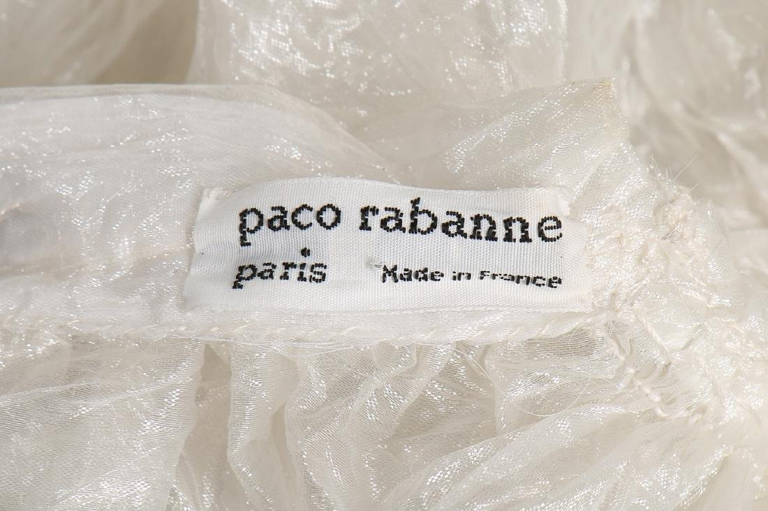 An unusual Paco Rabanne bubbled polyester gauze wedding - 8