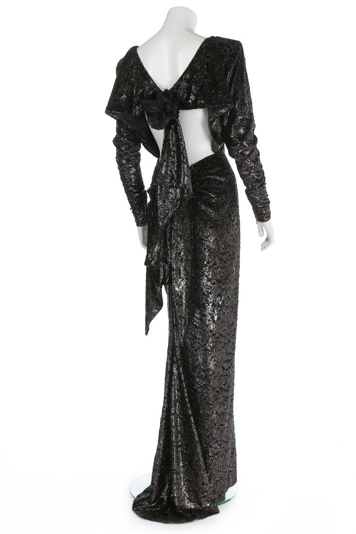 An Yves Saint Laurent couture twinkly anthracite plush