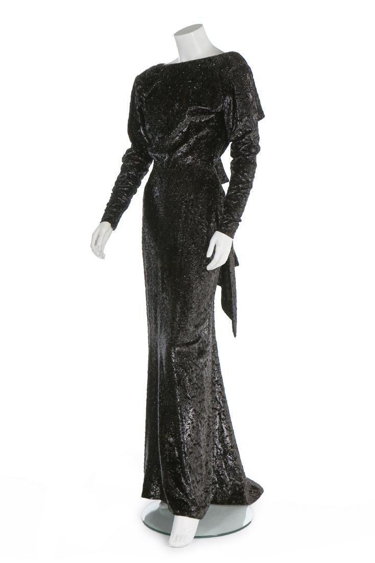 An Yves Saint Laurent couture twinkly anthracite plush - 2