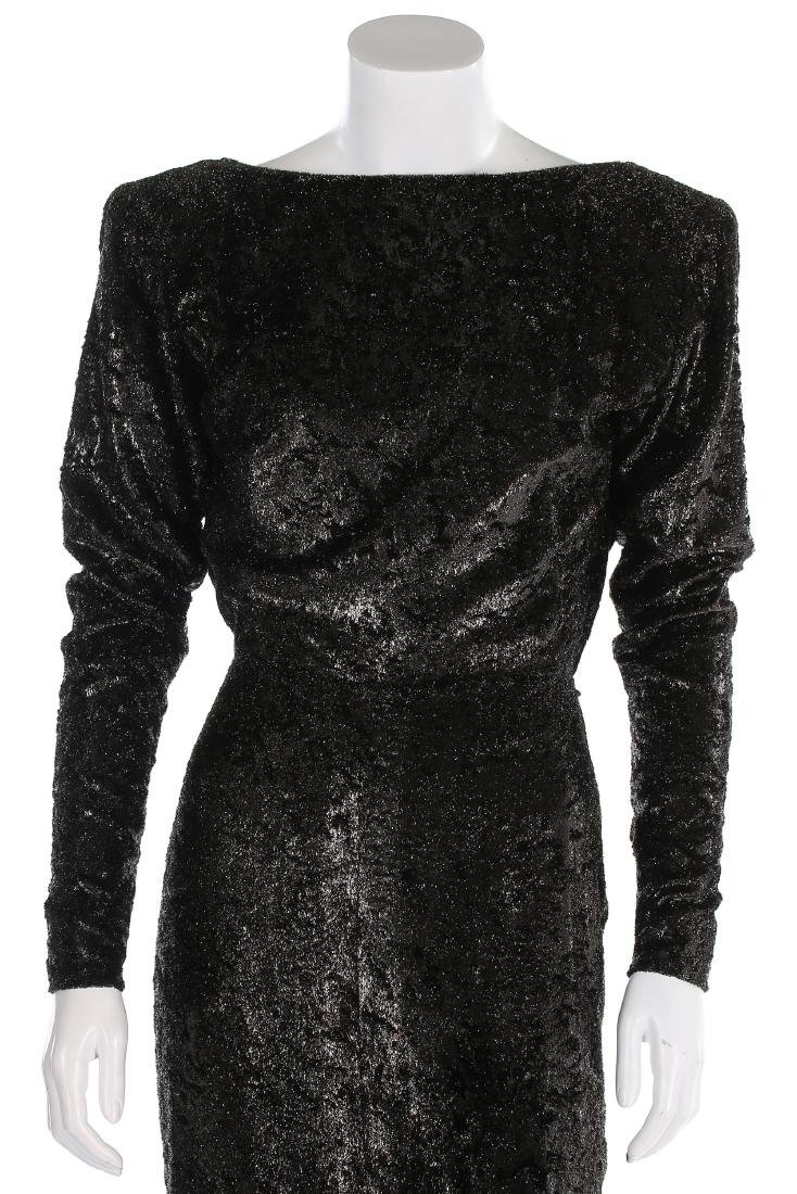 An Yves Saint Laurent couture twinkly anthracite plush - 3