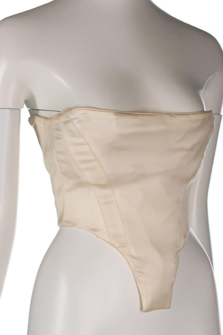 A rare John Galliano ivory satin corset-bodice, 'Olivia - 2
